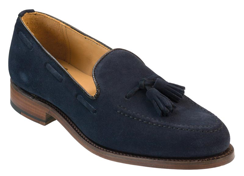 Mens Blue Suede Shoes With Tassels