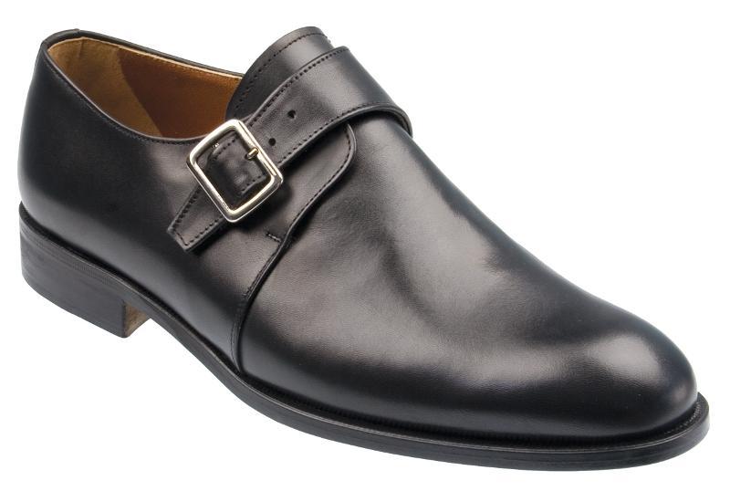 itchin mens black calf monk shoe