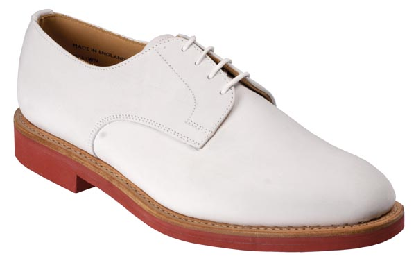 Jack Mens White Nubuck Derby