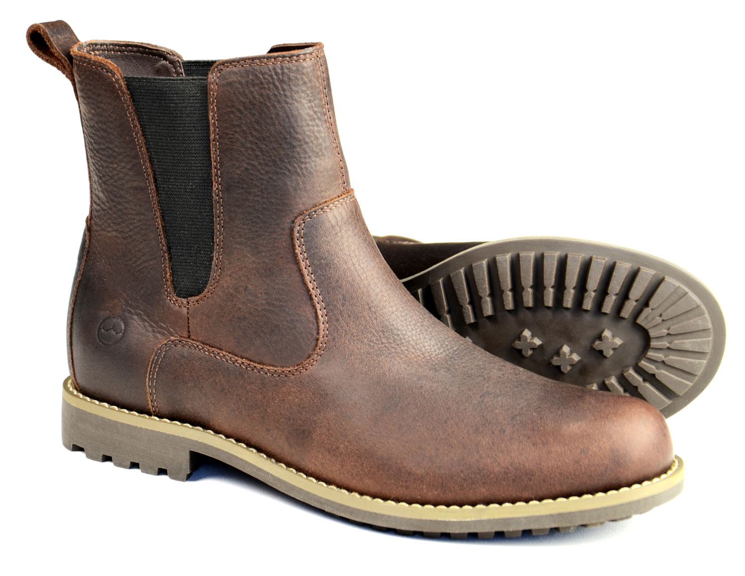 Cotswold Ladies Dark Brown Chelsea Boot with Rubber sole 644783d13d23