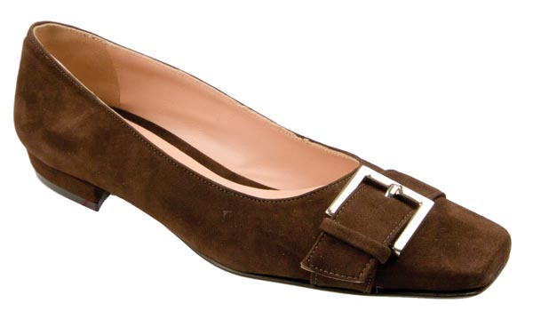 Ladies Chocolate Brown Court Shoes
