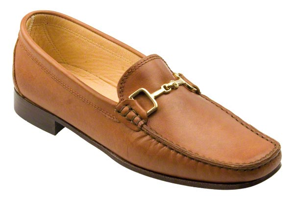 Sorrento Ladies Tan Calf Snaffle Loafer With Leather Sole