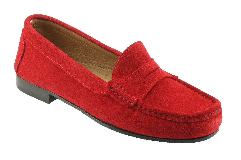 92c4b9d7ac7 Tivoli Ladies Red Suede Italian Loafer