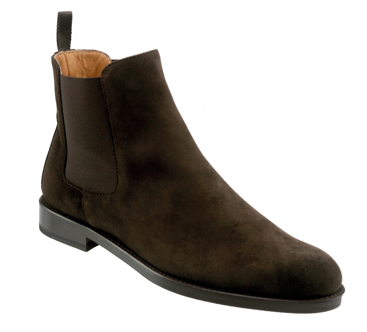 Ladies Chocolate Suede Chelsea Boot