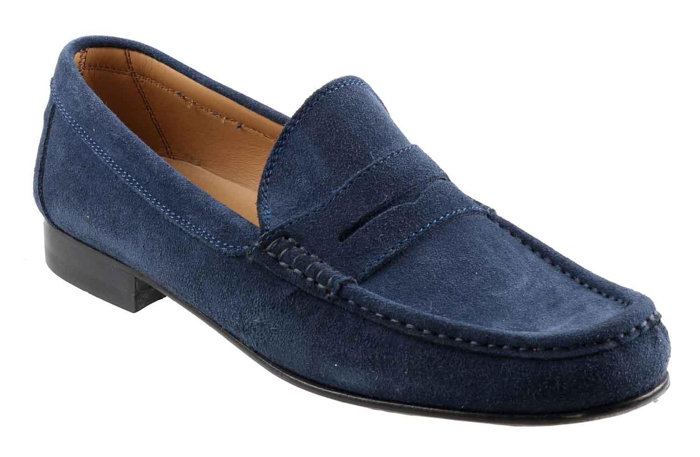 Mens Blue Suede Shoes Size