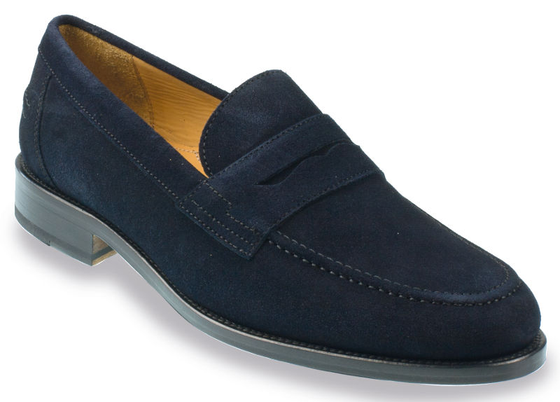 Mens Blue Suede Shoes Size