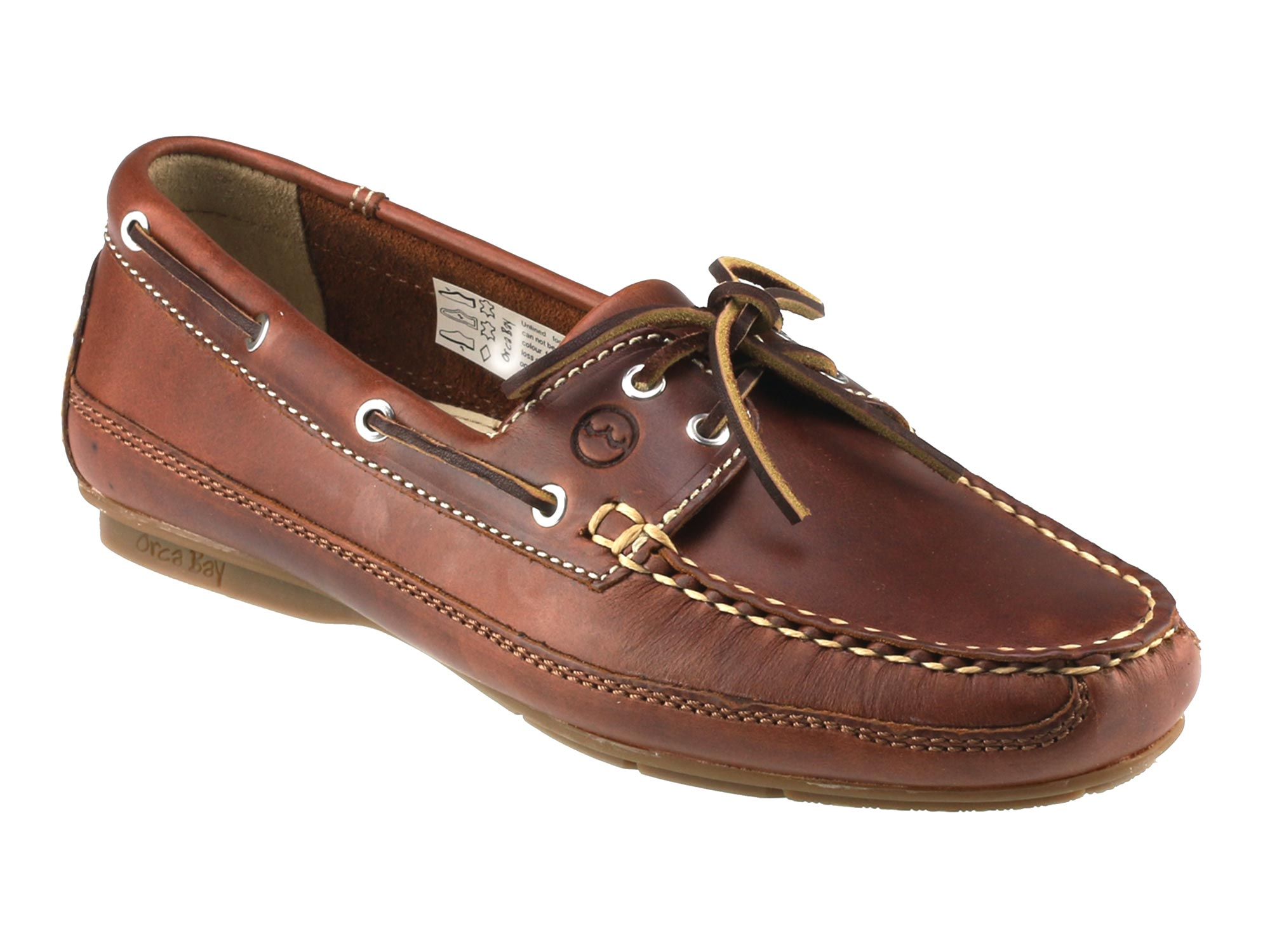 Brown Leather Ladies Deck Shoes