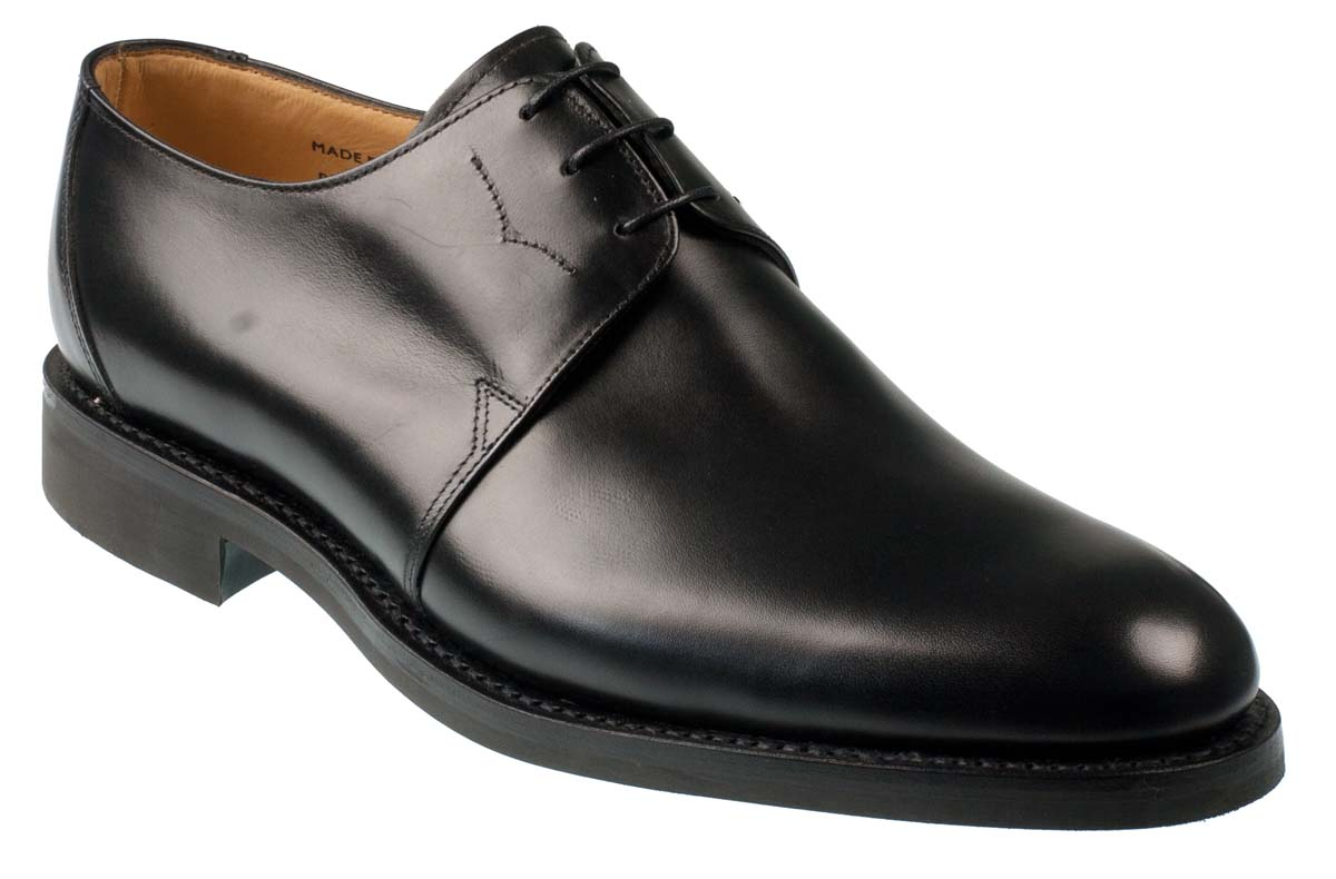budapest mens black derby shoe with rubber sole