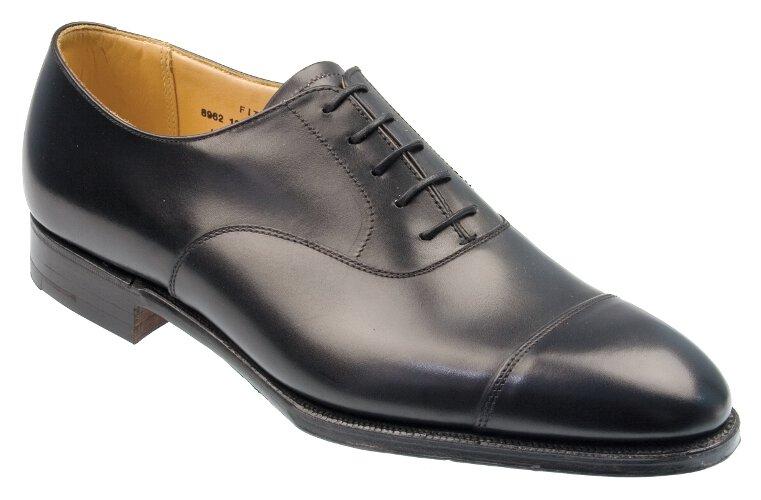 c527d23a8701 Fitzroy Black Calf Leather English Oxford