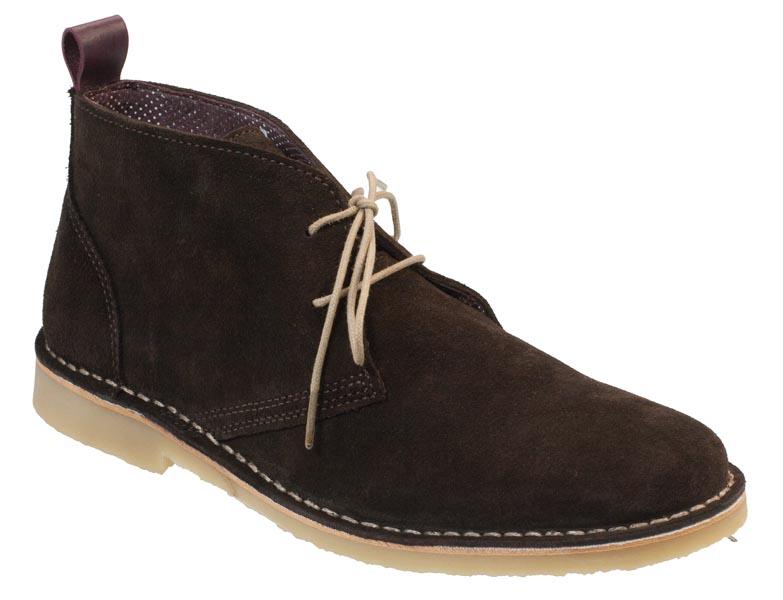 salina mens summer chukka boots chocolate suede