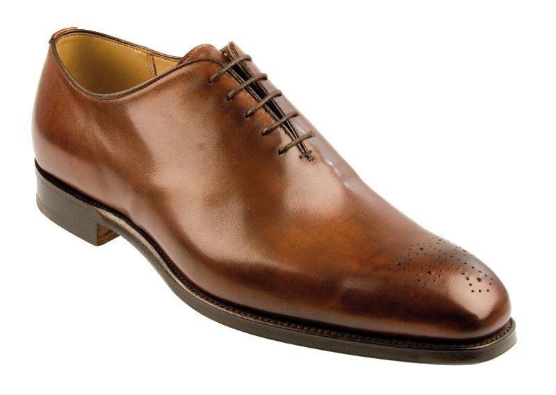 Calf Leather Wholecut Shoes